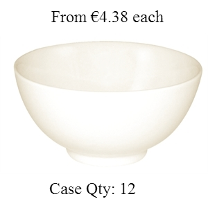 Ivory Porcelain Bowl Rice 130mm