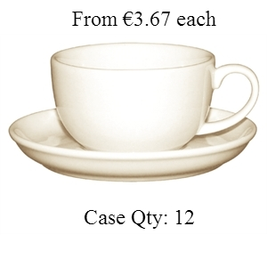 Ivory Porcelain Cappuccino Cup 10oz