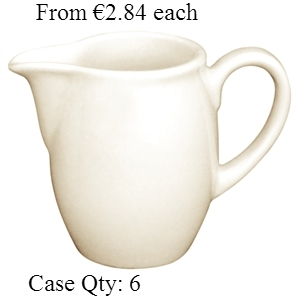 Ivory Porcelain Milk Jug 3oz