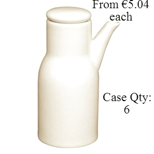 Ivory Porcelain Oil/Vinegar Bottle 110mm