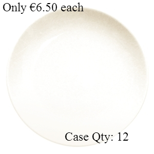 Ivory Porcelain Plate Round Coupe 10""