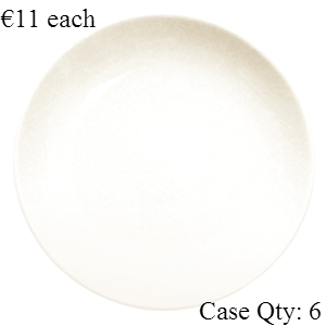 Ivory Porcelain Plate Round Coupe 12""