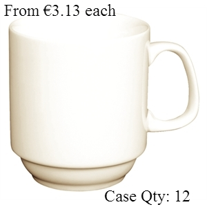 Ivory Porcelain Stacking Mug 10oz