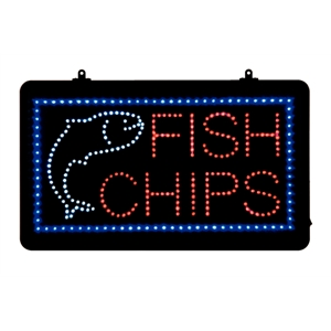 LED - Fish & Chips - Display Sign