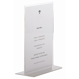 Menu Holder Upright A4
