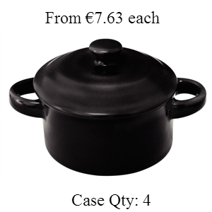 Miniature Pot & Lid Black 142ml