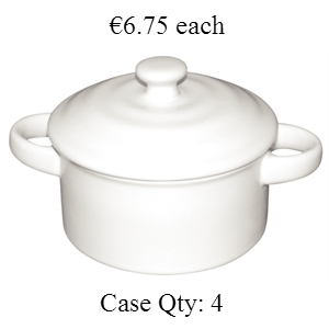 Miniature Pot & Lid White 142ml