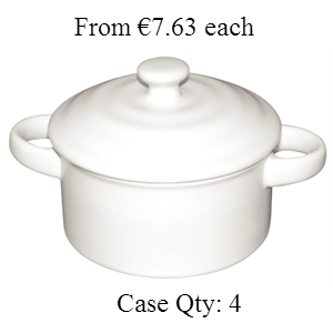 Miniature Pot & Lid White 227ml