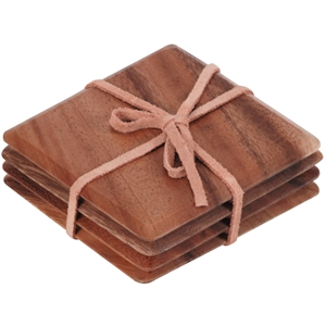 Placemats Dark Wood Coasters