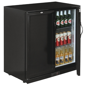 Polar Back Bar Cooler Double Solid Hinged Door
