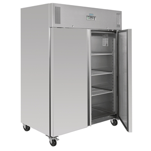 Polar Heavy Duty Double Door Fridge Stainless Steel 1300Ltr