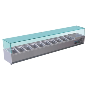 Polar Refrigerated Counter Top Servery Prep Unit 10x 1/4GN