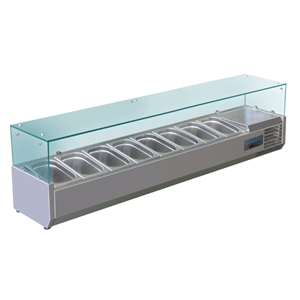 Polar Refrigerated Counter Top Servery Prep Unit 8x 1/4GN