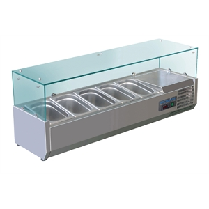 Polar Refrigerated Countertop Servery Prep Unit 5x 1/4GN