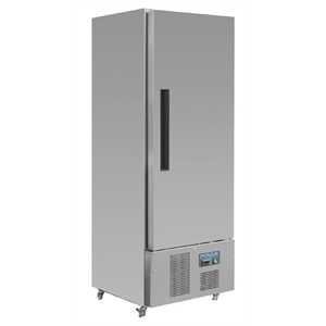 Polar Single Door Slimline Fridge Stainless Steel 440Ltr
