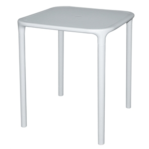Polypropylene Square Table White