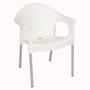 Polypropylene Stacking Bistro Armchair White (Each)