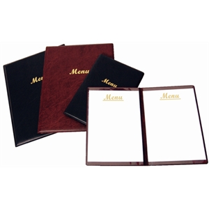 PVC A4 Menu Holder Burgundy 2 page