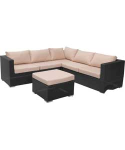 Rattan Effect 5 Seat Furniture Sofa Set