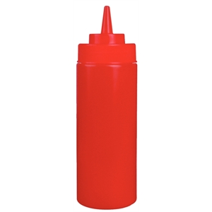 Red Squeeze Sauce Bottle 35oz Red