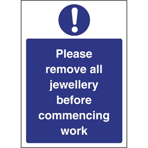 Remove Jewellery Sign