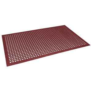 Rubber Fatigue Relief Mats 5'x3' Red (90x150cm)