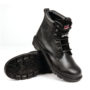 Safety Boot Black Laced.