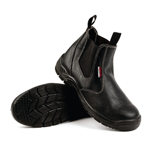 Safety Boot Black Slip On.
