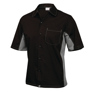 Staff Uniform Contrast Shirt Black and Grey