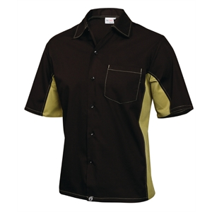 Staff Uniform Contrast Shirt Black and Lime