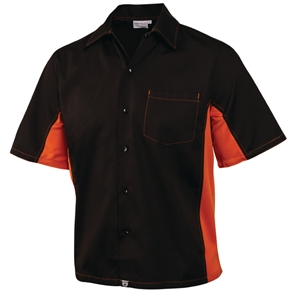 Staff Uniform Contrast Shirt Black and Orange