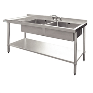 Stainless Steel Sink L/H Drainer 1500mm
