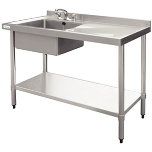 Stainless Steel Sink R/H Drainer 1200mm