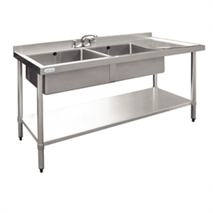 Stainless Steel Sink R/H Drainer 1800mm