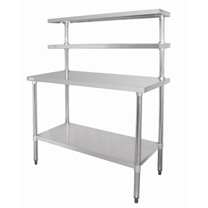 Stainless Steel Table with Gantry Shelves 1200(W)mm