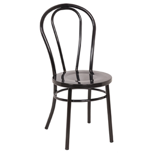Steel Bentwood Style Black Side Chairs (Each)