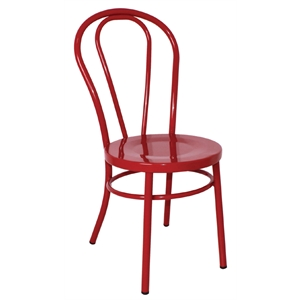 Steel Bentwood Style Red Side Chairs (Each)