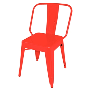 Steel Bistro Side Chair Red (Each)