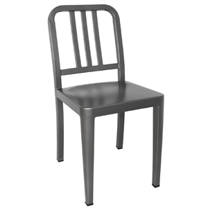 Steel Marine Side Chair Gun Metal Grey