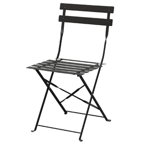 Steel Pavement Style Black Chair (Each)