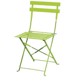 Steel Pavement Style Green Chair (Each)