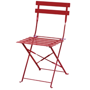 Steel Pavement Style Red Chair (Each)