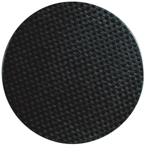 Werzalit Round Table Top Rattan Anthracite 600mm