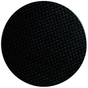 Werzalit Round Table Top Rattan Anthracite 800mm