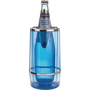 Wine Bottle Cooler - Blue Tint Acrylic